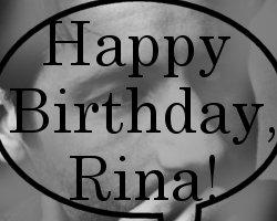 Happy Birthday Rina!